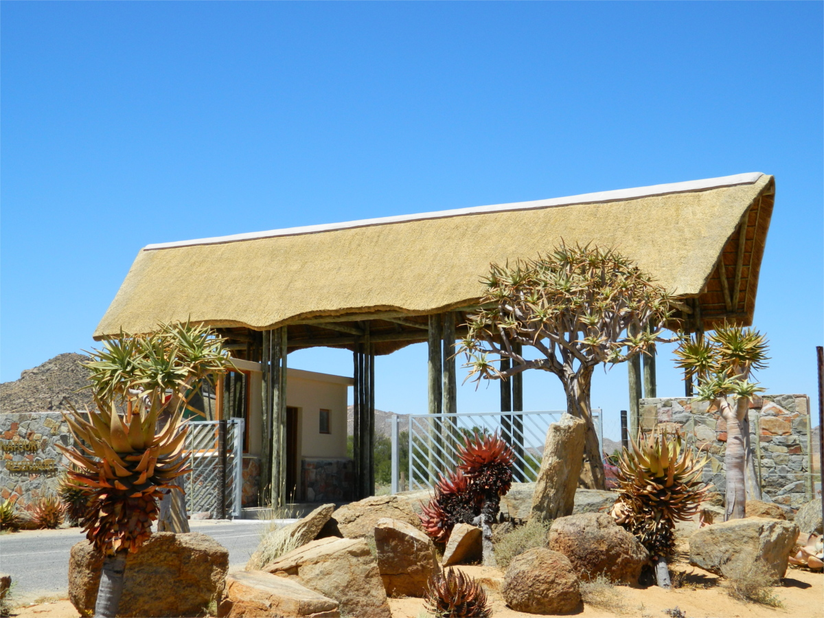 Large Thatched Entrance, Goegap Nature Reserve, Northern Cape