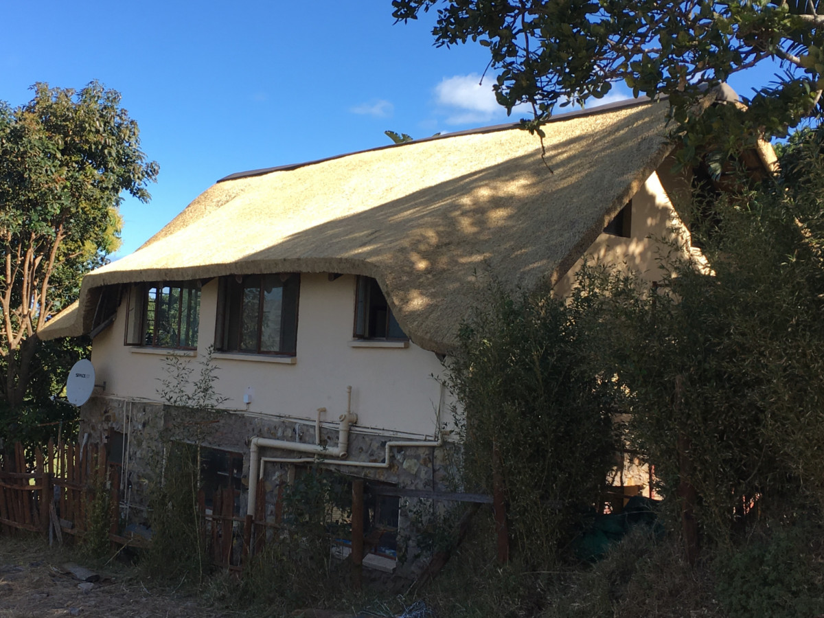Newly Thatched Roof on Home in Eastern Cape