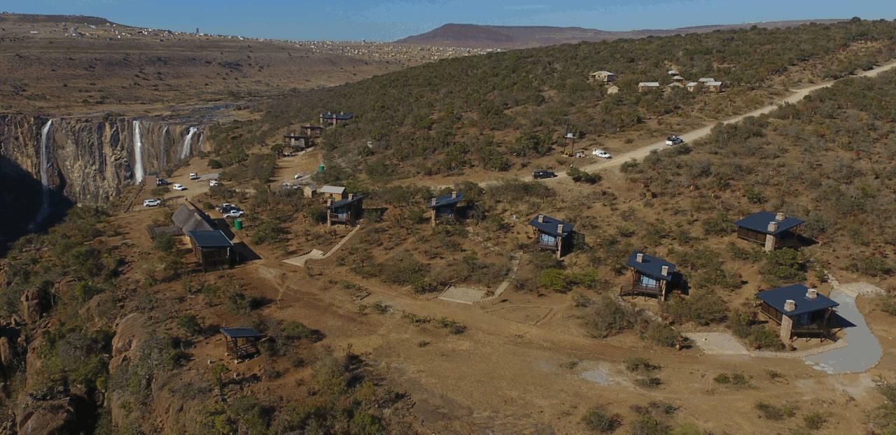 New Timber Cabins built at Tsitsa Falls Resort