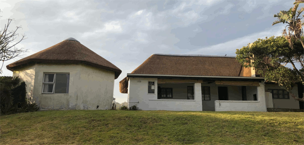 New Thatched Roof on Holiday Cottage, Eastern Cape