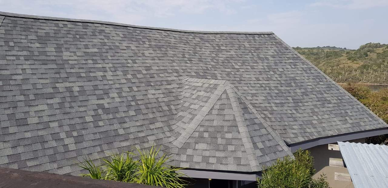 Thatch roof converted to shingles