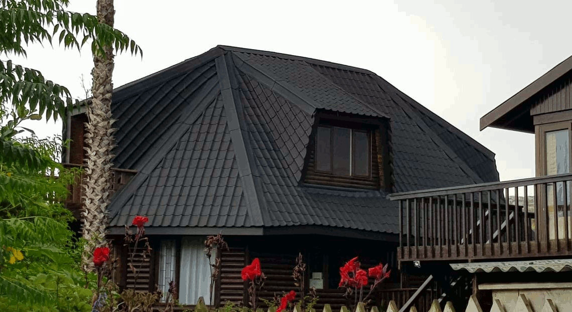 Thatch roof converted to Onduvilla tiles in Knysna, Western Cape