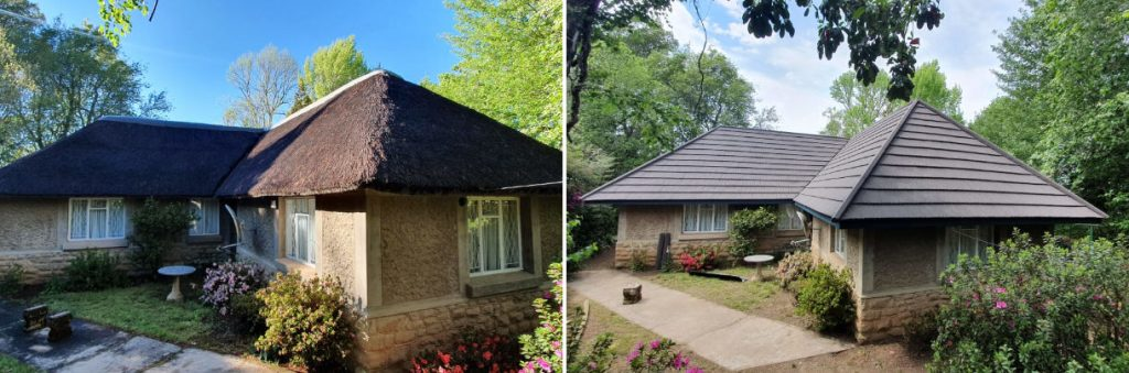 Bosazza Roofing is a specialist in converting thatch roofs to tiles