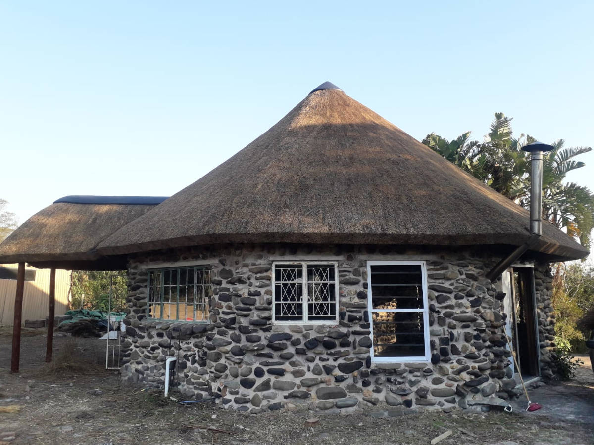 New Thatched Roof on Stone Cottage
